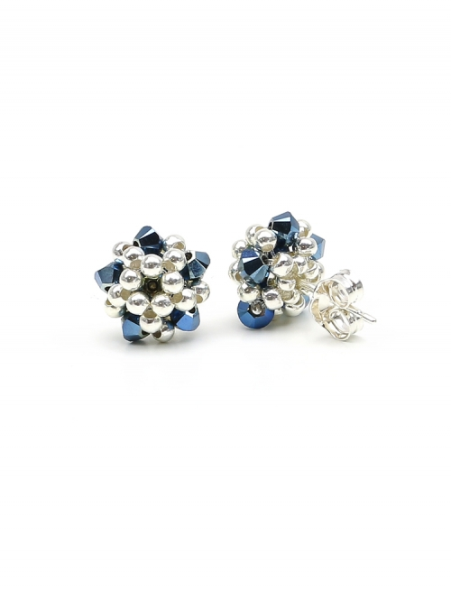 Charm Blue - stud earrings