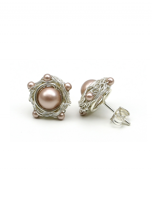 Sweet Almond - 925 Silver stud earrings