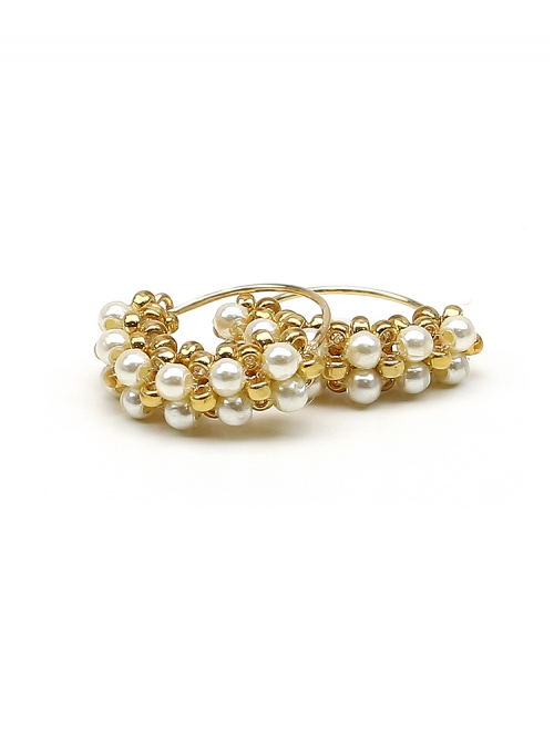 Minidiva Pearls Cream - earrings