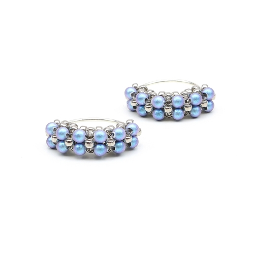Minidiva Pearls iridescent Light Blue - earrings
