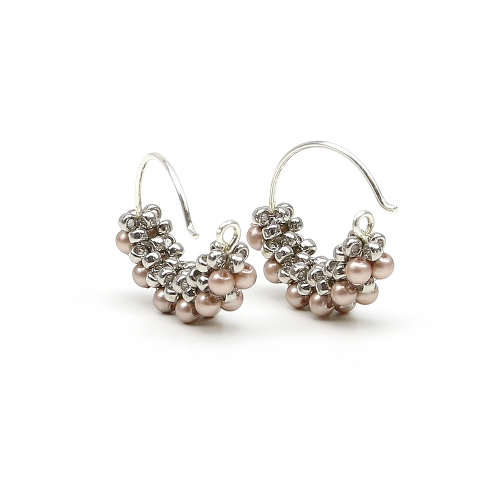 Minidiva Pearls Powder Almond - earrings