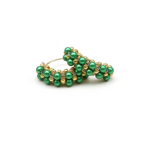 Minidiva Pearls Eden Green - earrings