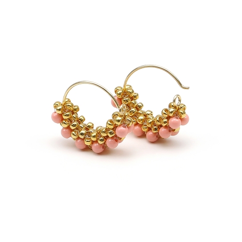 Minidiva Pearls Pink Coral - earrings