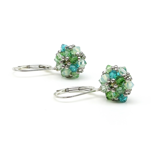 Daisies Herba Fresca - 925 Silver leverback earrings