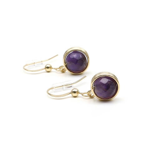 Dangle earrings by Ichiban - Busted Gemstone Amethyst