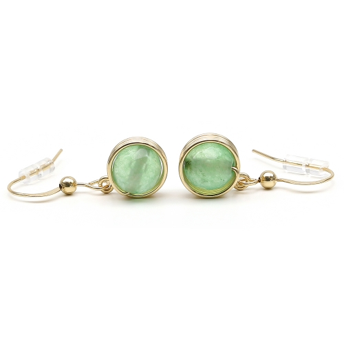 Busted Gemstone Aventurine - earrings