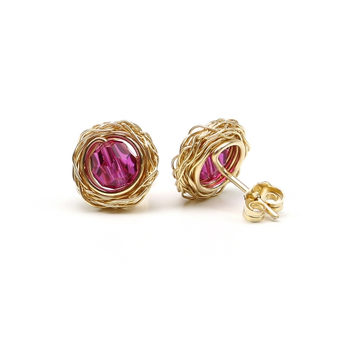 Sweet Fuchsia - stud earrings