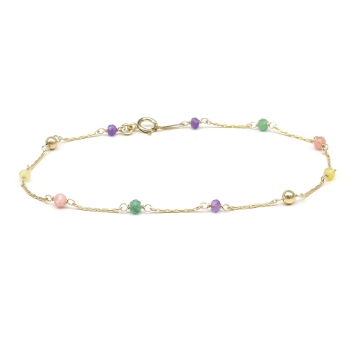 Gemstone bracelet for women - Lucky Charm Precious Mix