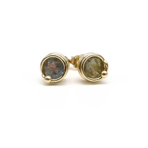Busted Deluxe Labradorite - stud earrings