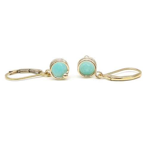 Busted Deluxe Amazonite - leverback earrings