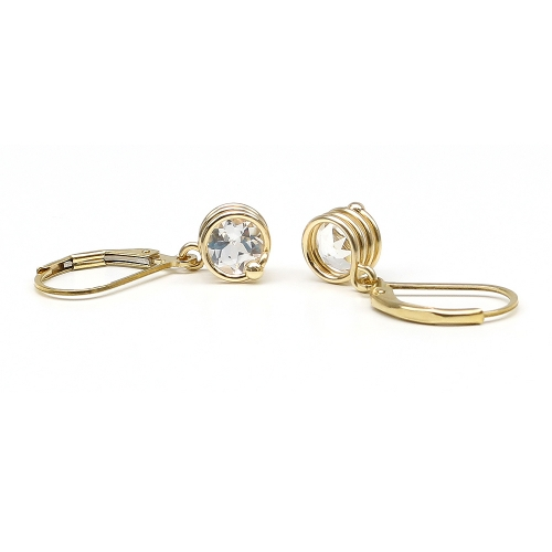 Busted Deluxe White Topaz - leverback earrings