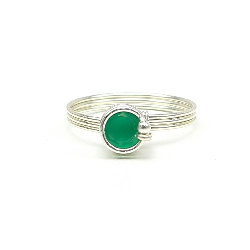Busted Deluxe Green Onyx AG925 - ring
