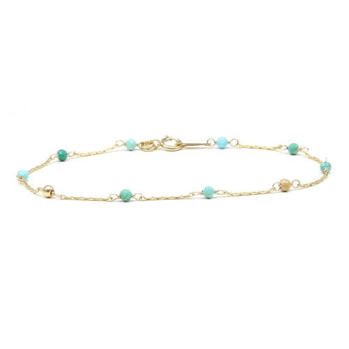 Gemstone bracelet - for women - Lucky Charm Turquoise