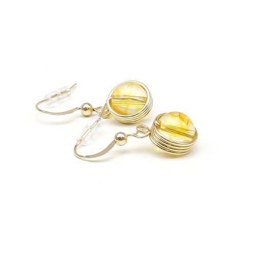 Busted Gemstone Citrine - earrings