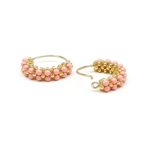 Primetime Pearls Pink Coral - cercei