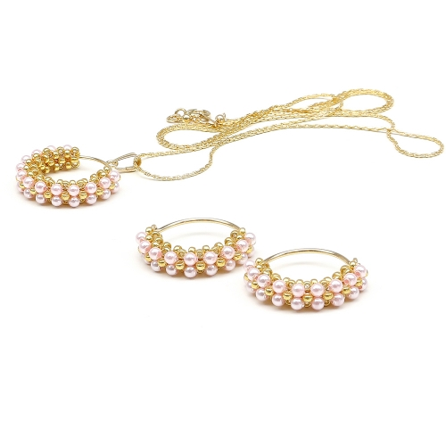 Primetime Pearls Rosaline set - pendant and earrings
