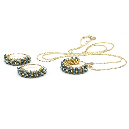 Primetime Pearls Tahitian set - pendant and earrings