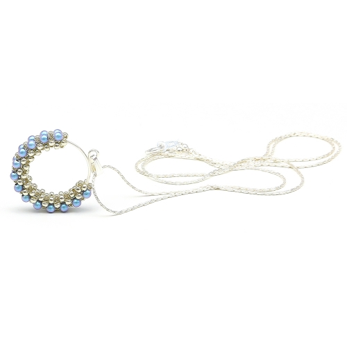 Primetime Pearls Iridescent Light Blue - pandantiv AG925