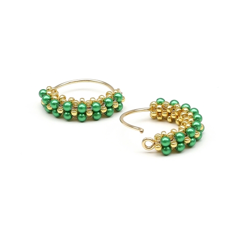 Primetime Pearls Eden Green - earrings