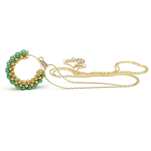 Swarovski pearls pendant for women - Primetime Pearls Eden Green