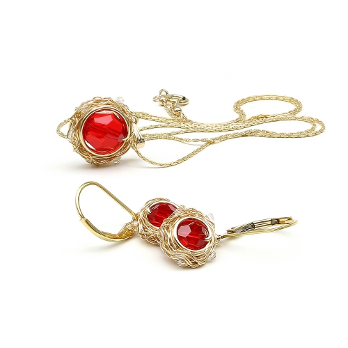 Sweet Passion set - pendant and leverback earrings
