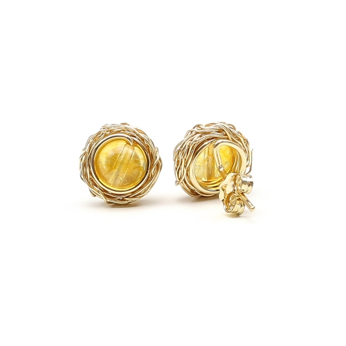 Stud earrings by Ichiban - Sweet Citrine