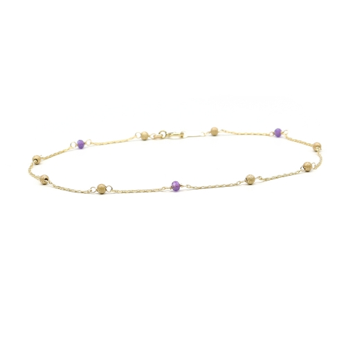 Bracelet with purple gemstones - for women - Lucky Charm Stardust Amethyst