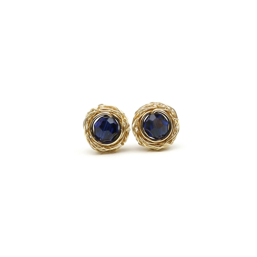 Sweet Dark Indigo - stud earrings