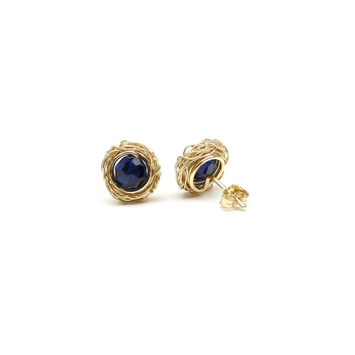 Stud earrings by Ichiban - Sweet Dark Indigo