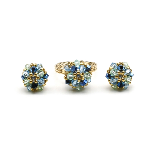 Set ring and stud earrings by Ichiban - Daisies Spicy