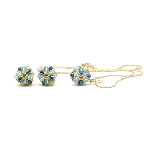 Daisies Spicy set - pendant and earrings