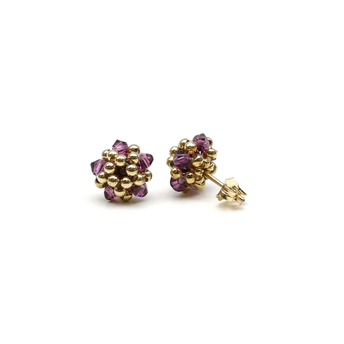 Charm Amethyst - earrings