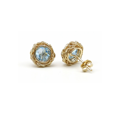 Stud earrings by Ichiban - Sweet Aquamarine