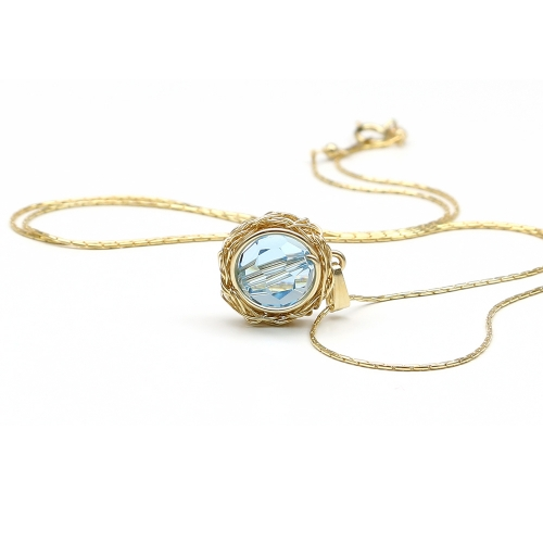 Swarovki crystal pendant for women - Sweet Aquamarine