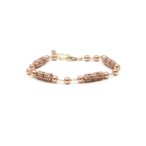 Handmade bracelet for women - Cappucino