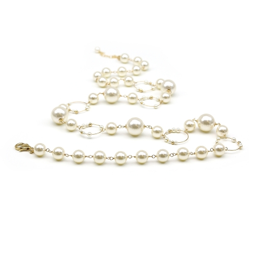 Swarovski pearls necklace for women - Gravity Cream