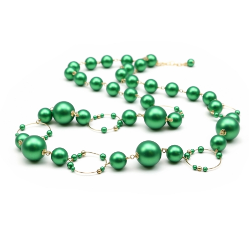 Swarovski pearls necklace for women - Gravity Eden Green