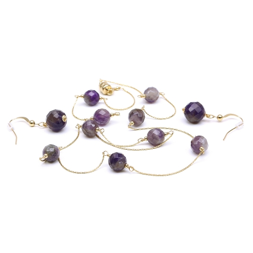 Amethyst set - neclace and earrings