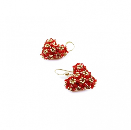 Dangle earrings by Ichiban - Love Around Red