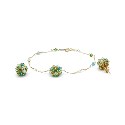 Daisies Herba Fresca set - bracelet and stud earrings