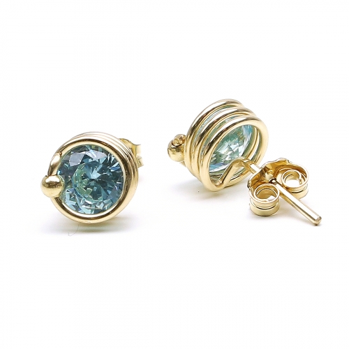Stud earrings by Ichiban -  Busted Light Blue