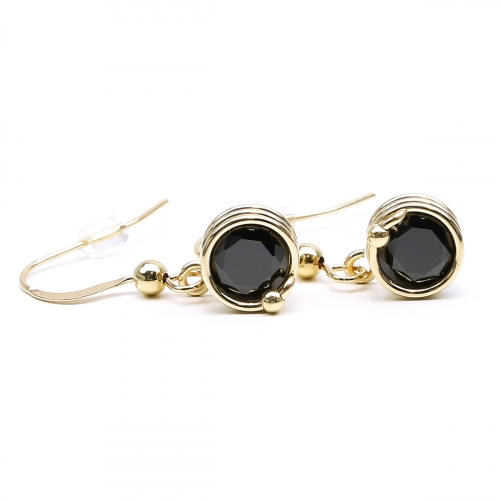 Dangle earrings by Ichiban -Busted Black