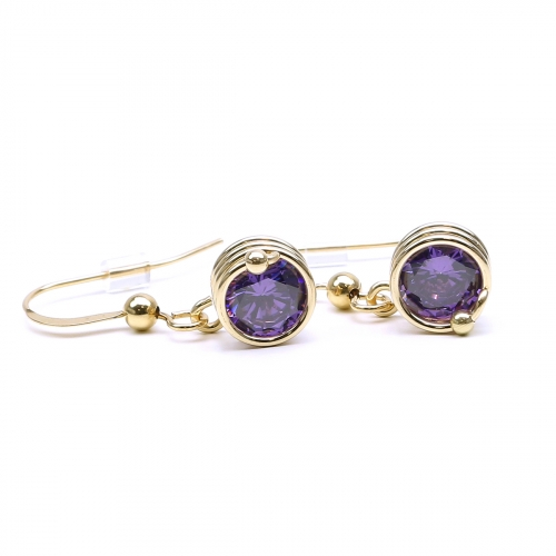 Dangle earrings by Ichiban - Busted Purple