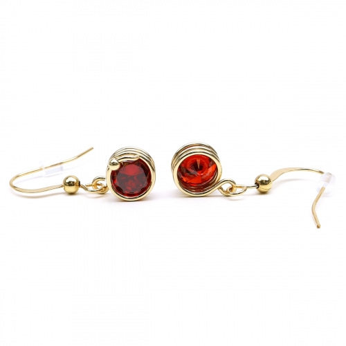 Red Zirconia earrings for women - Busted Red