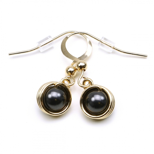 Pearls earrings for women - Busted Pearls Black