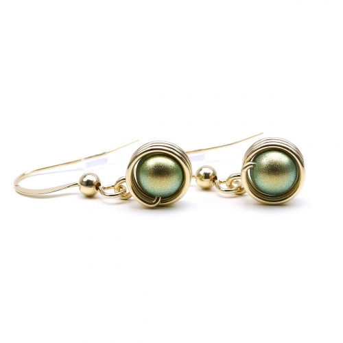 Pearls earrings for women - Busted Pearls Iridescent Green