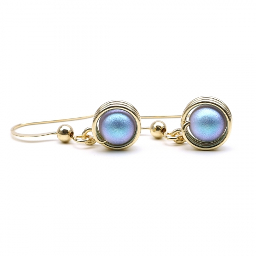 Earrings by Ichiban - Busted Pearls Iridescent Light Blue