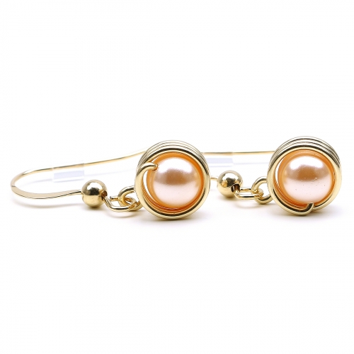 Pearls earrings for women - Busted Pearls Peach