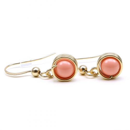 Earrings by Ichiban - Busted Pearls Pink Coral