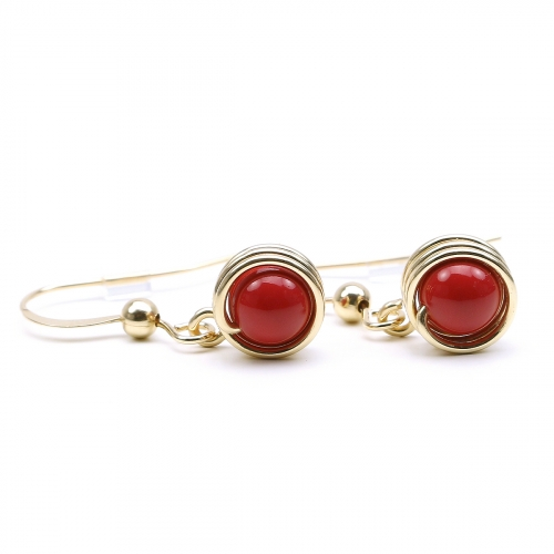 Earrings by Ichiban - Busted Pearls Red Coral